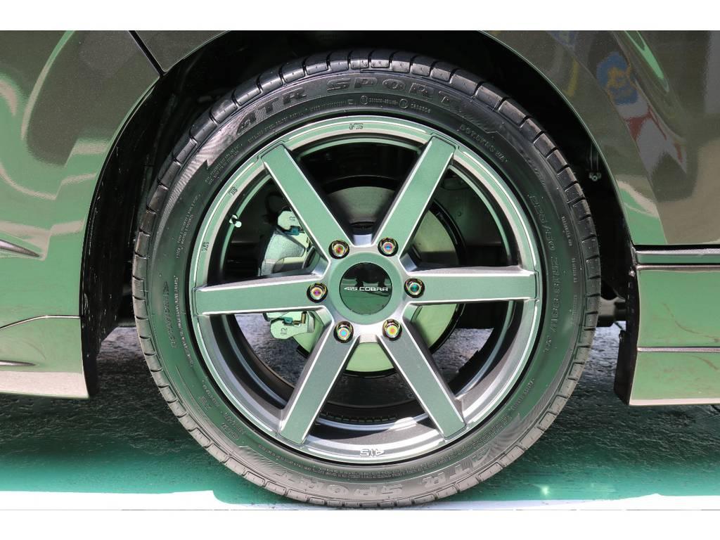 415コブラ BUDRUCKER SD-6 18インチ!! | トヨタ ハイエースバン 2.8 スーパーGL 50TH アニバーサリー リミテッド ロングボディ ディーゼルターボ 50TH (4X7)