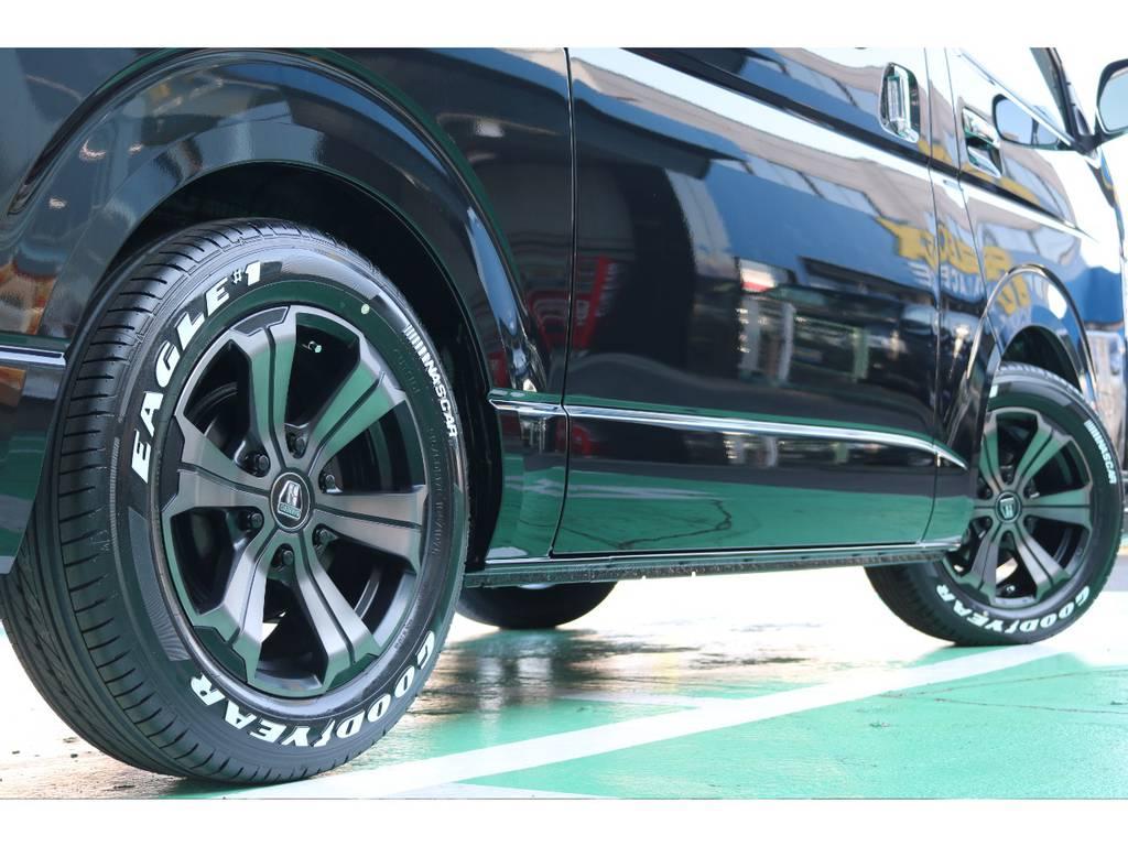 タイヤはグッドイヤーのナスカータイヤをチョイス!