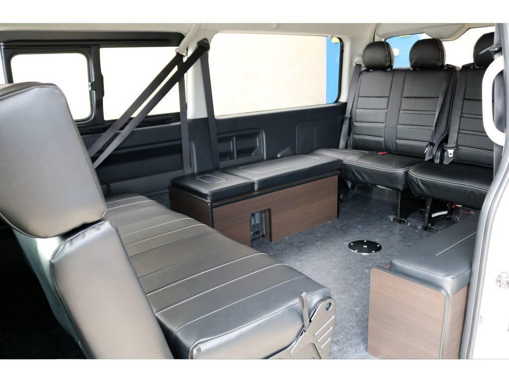 ベットキットも取り外し可能!様々な使い方が出来るアレンジです♪ | トヨタ ハイエース 2.7 GL ロング ミドルルーフ 4WD TSS付アレンジAS