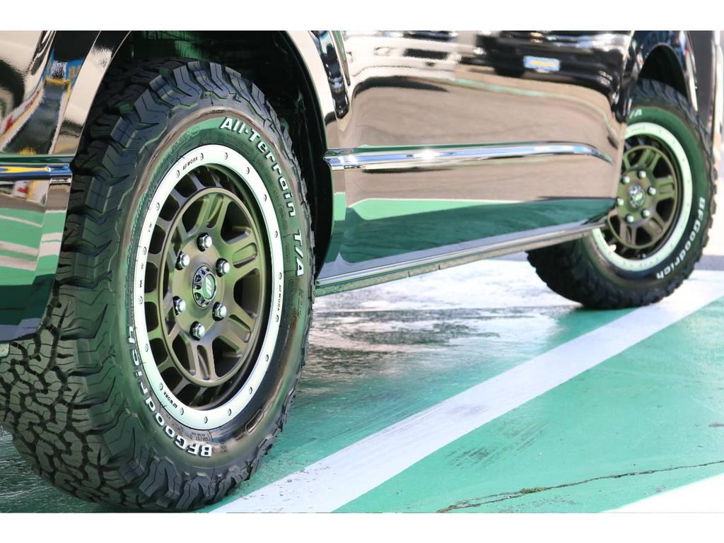 タイヤはグッドリッチオールテレーン!かっこよく決まっています♪ | トヨタ ハイエース 2.7 GL ロング ミドルルーフ 4WD TSS付アレンジAS