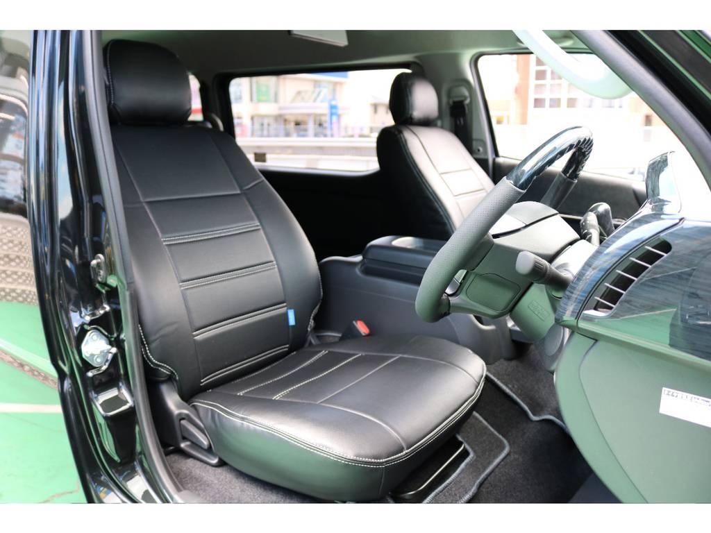 全席シートカバー装着済み♪ | トヨタ ハイエース 2.7 GL ロング ミドルルーフ 4WD TSS付アレンジAS