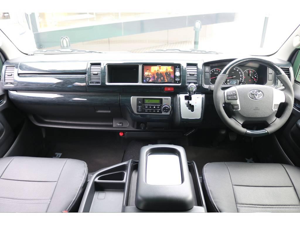黒木目インテリアパネルセット装着済み♪   トヨタ ハイエース 2.7 GL ロング ミドルルーフ