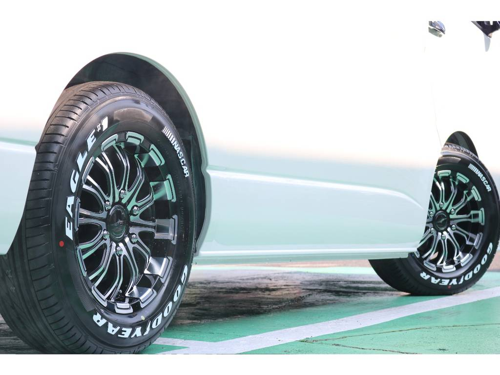 GOODYEARのナスカータイヤとの相性もピッタリです!   トヨタ ハイエース 2.7 GL ロング ミドルルーフ