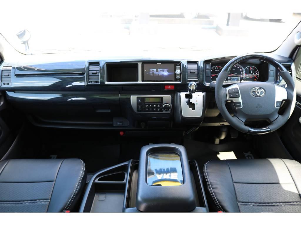 黒木目インテリアパネルセット装着済み♪ | トヨタ ハイエース 2.7 GL ロング ミドルルーフ