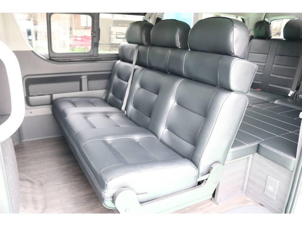 座り心地も良くリクライニングも自由自在♪ | トヨタ ハイエース 2.7 GL ロング ミドルルーフ