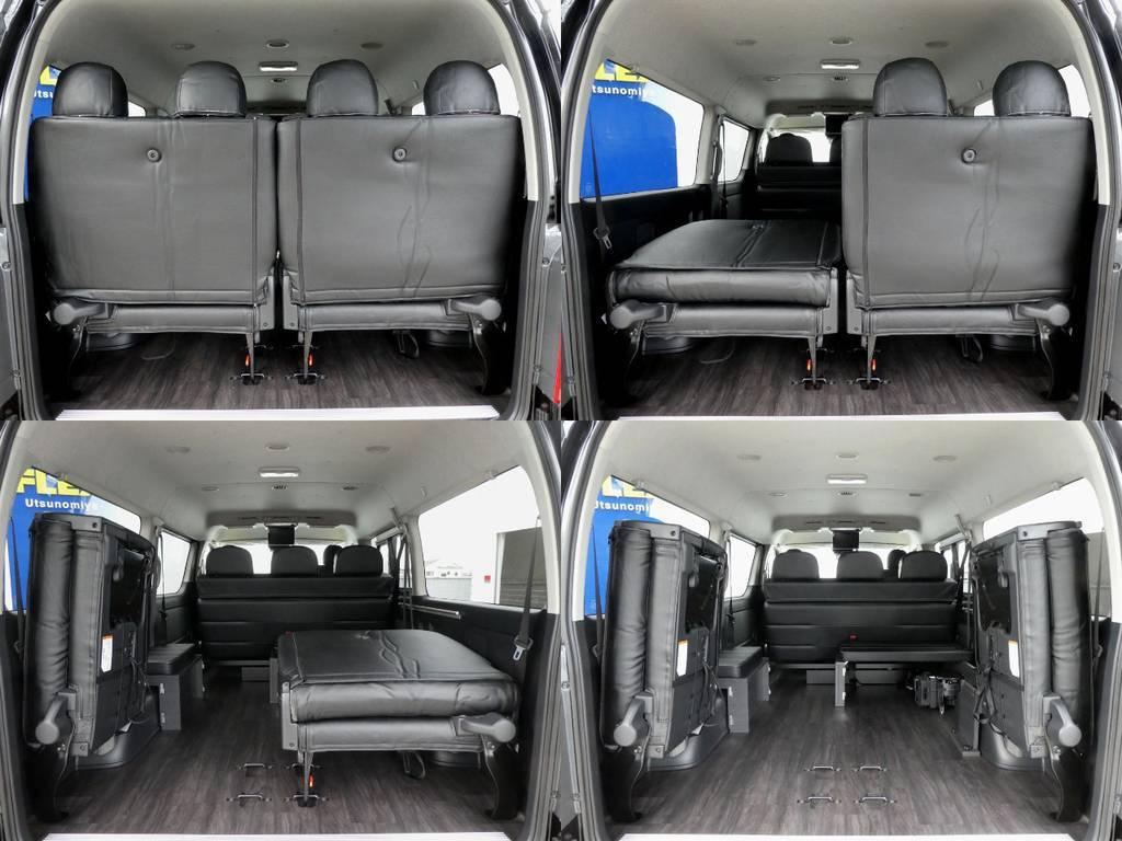 4列目を跳ね上げれば広い荷室スペースもございます! | トヨタ ハイエース 2.7 GL ロング ミドルルーフ