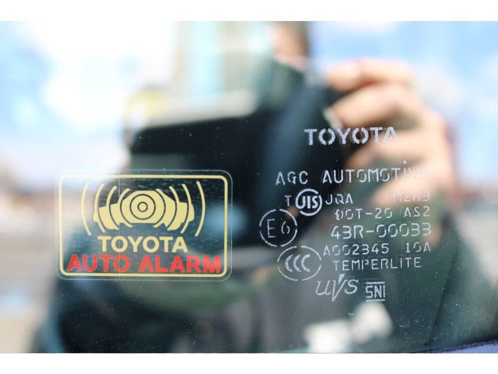 オートアラームを装備! | トヨタ ハイエース 2.7 GL ロング ミドルルーフ