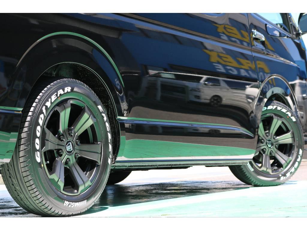 タイヤはグッドイヤーのナスカータイヤをチョイス! | トヨタ ハイエース 2.7 GL ロング ミドルルーフ