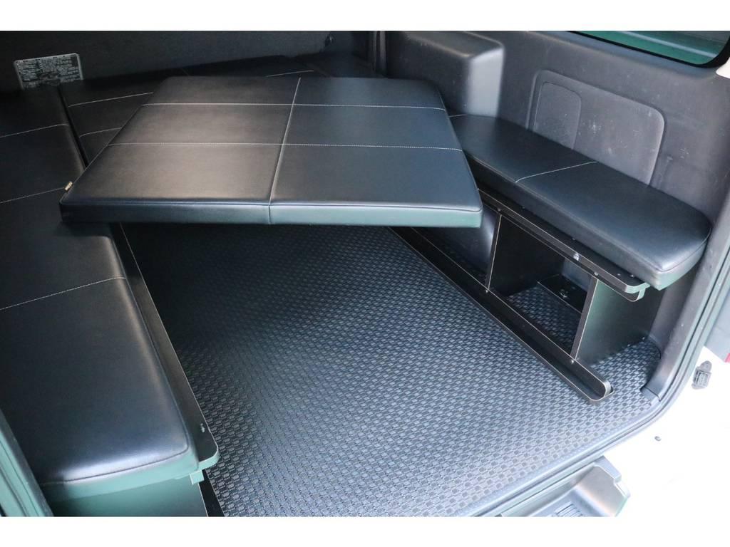 ベッドマットは取り外し可能♪ | トヨタ ハイエースバン 3.0 スーパーGL  ダークプライム ロングボディ ディーゼルターボ