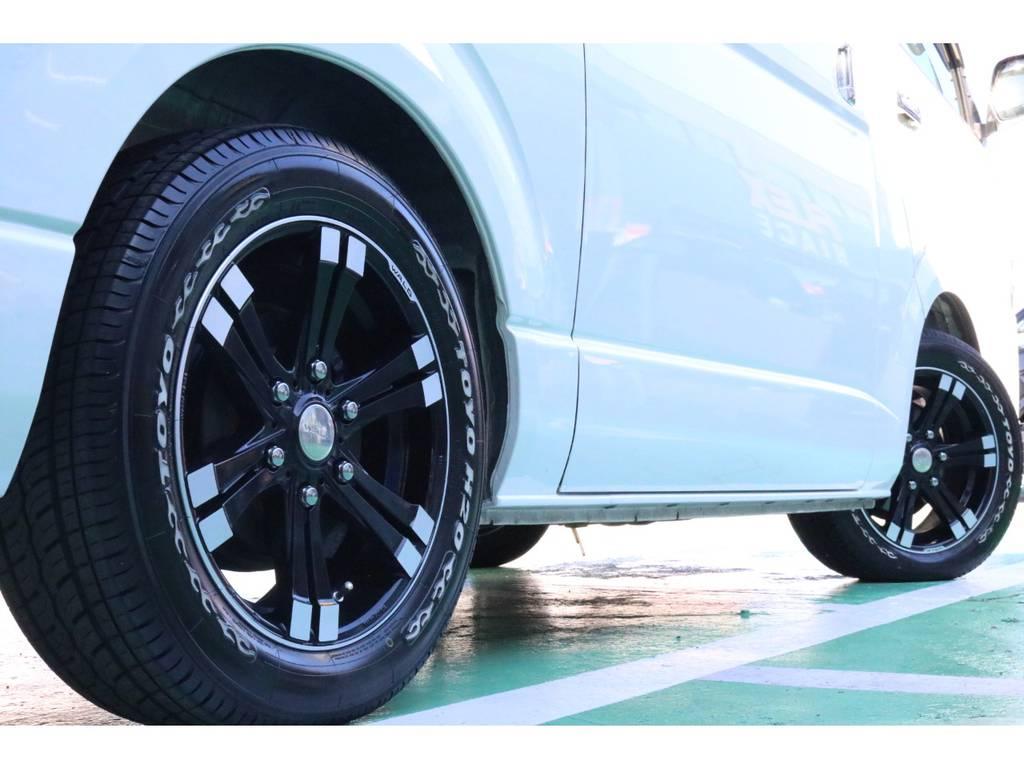 車検対応のタイヤ・ホイールセット♪ | トヨタ ハイエースバン 3.0 スーパーGL  ダークプライム ロングボディ ディーゼルターボ