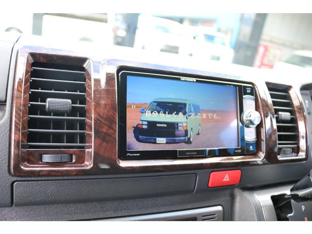 カロッツェリアSDナビ♪ フルセグTV・音楽録音・DVD再生 | トヨタ ハイエースバン 2.8 スーパーGL 50TH アニバーサリー リミテッド ロングボディ ディーゼルターボ 4WD 50TH