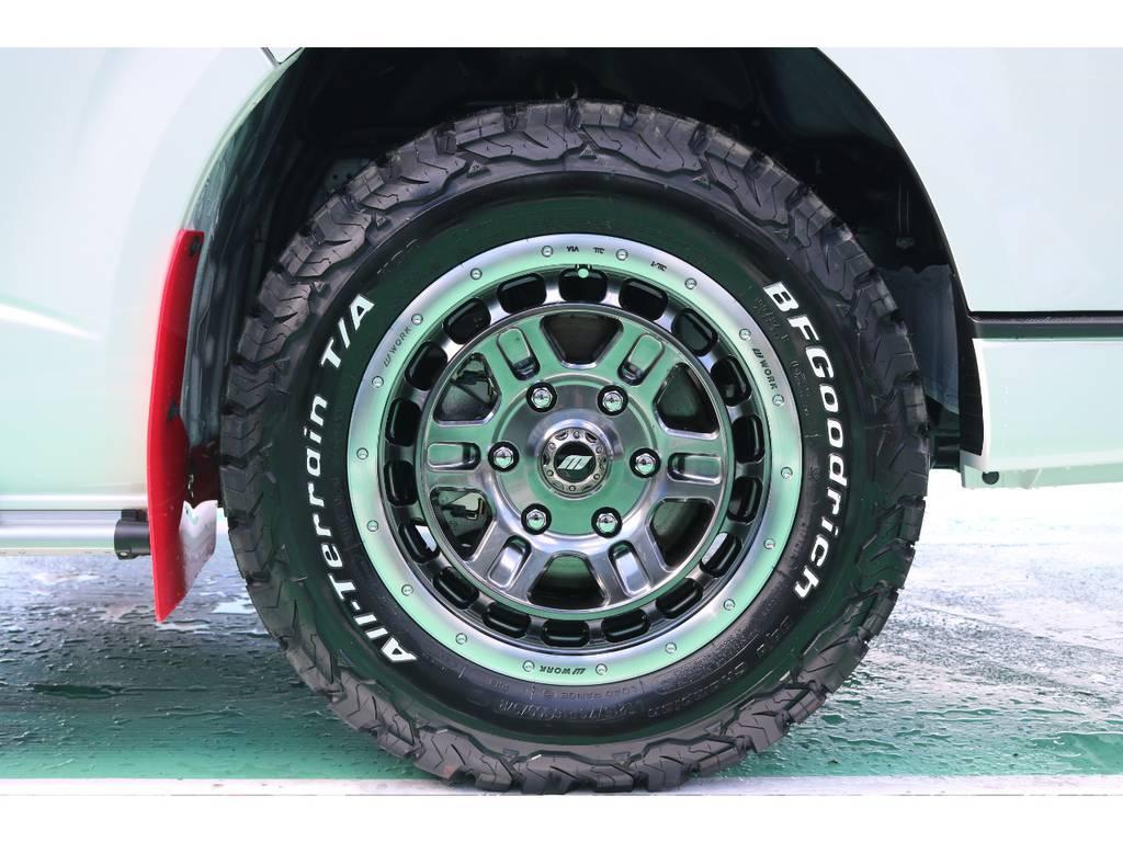 ホイールはWORK T-GRABIC2をセレクト! 215・65・16でサイズもピッタリですね♪ | トヨタ ハイエースバン 2.8 スーパーGL 50TH アニバーサリー リミテッド ロングボディ ディーゼルターボ 4WD 50TH
