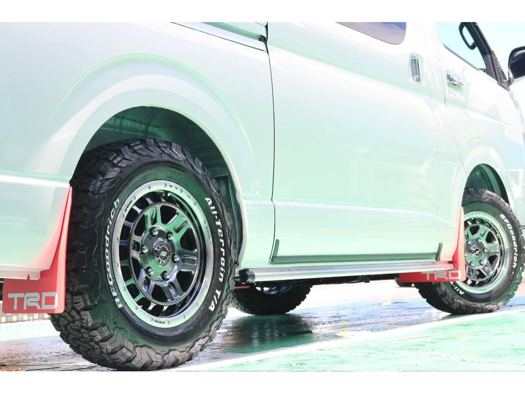 タイヤは四駆の定番 グットリッジをセレクト!マッチしてます! | トヨタ ハイエースバン 2.8 スーパーGL 50TH アニバーサリー リミテッド ロングボディ ディーゼルターボ 4WD 50TH