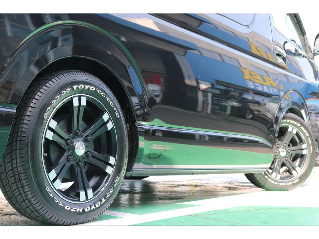 お好みのホイールに変更も承ります!お気軽にご相談下さい!! | トヨタ ハイエース 2.7 GL ロング ミドルルーフ