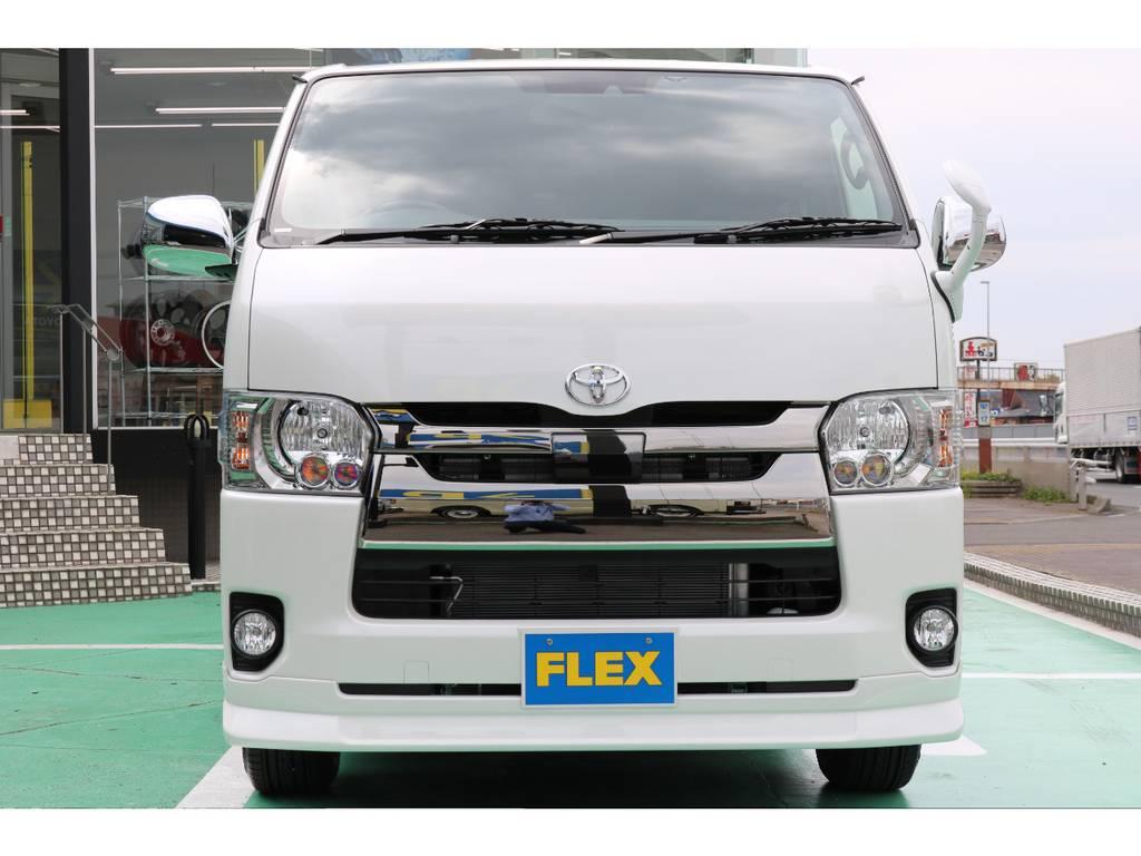 FLEXオリジナルリップを装着しております | トヨタ ハイエースバン 2.8 スーパーGL ダークプライムⅡ ロングボディ ディーゼルターボ 4WD