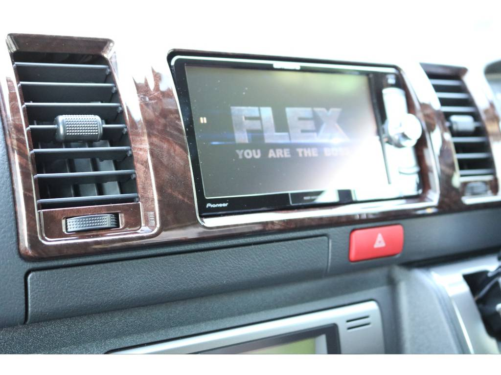 カロツェリアのSDナビをインストールしました♪Bluetooth・DVD再生・フルセグ視聴可能です!   トヨタ ハイエースバン 2.0 スーパーGL 50TH アニバーサリー リミテッド ロングボディ 50TH