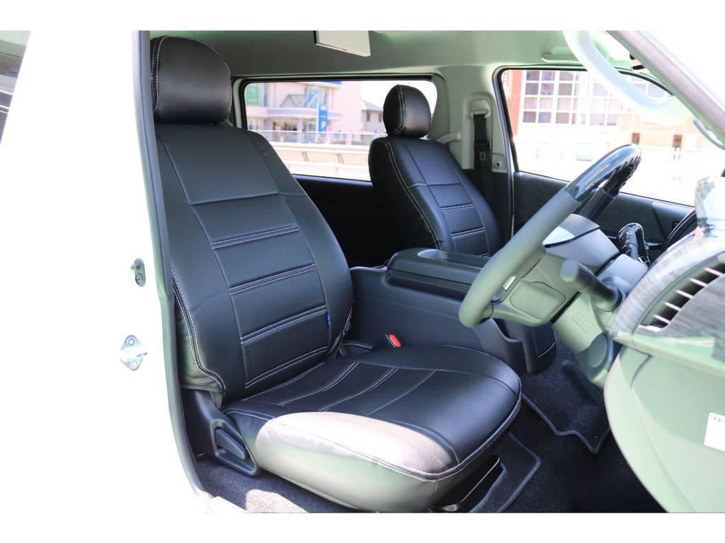 全席シートカバー装備♪ | トヨタ ハイエース 2.7 GL ロング ミドルルーフ 4WD TSS付