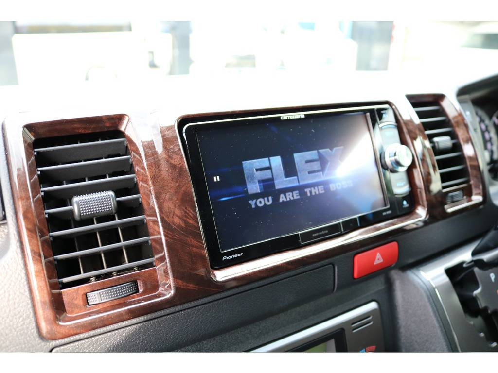 カロツェリアのSDナビをインストールしました♪Bluetooth・DVD再生・フルセグ視聴可能です!! | トヨタ ハイエースバン 2.8 スーパーGL 50TH アニバーサリー リミテッド ロングボディ ディーゼルターボ 4WD 50TH