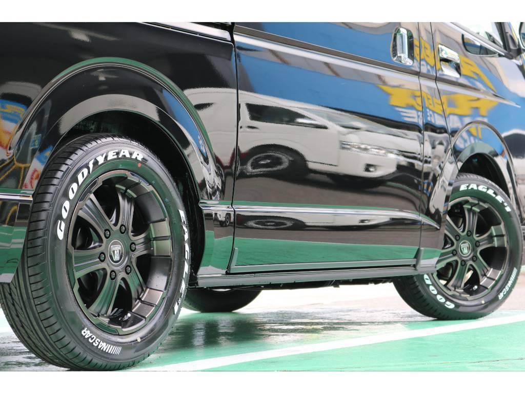 タイヤはグッドイヤーのナスカータイヤをチョイス! | トヨタ ハイエースバン 2.8 スーパーGL 50TH アニバーサリー リミテッド ロングボディ ディーゼルターボ 4WD 50TH