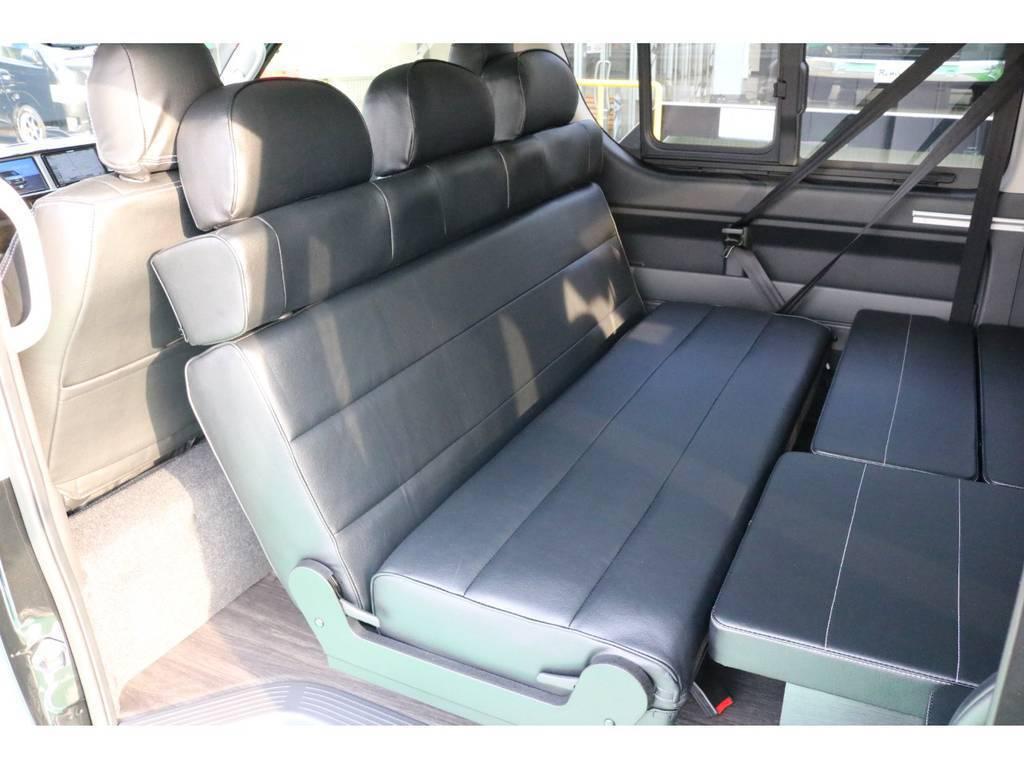 転回も簡単で対面にも出来ます! | トヨタ ハイエース 2.7 GL ロング ミドルルーフ TSS付 Ver.2内装仮装