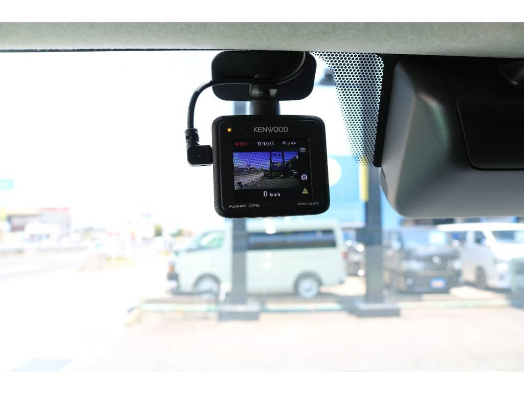 ドライブレコーダーも装備しております♪ | トヨタ ハイエース 2.7 GL ロング ミドルルーフ TSS付 Ver.2内装仮装