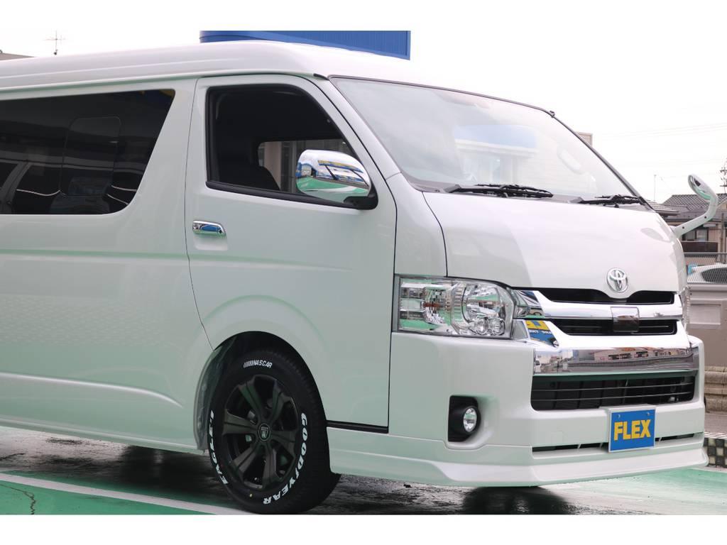FLEX Delfinoフロントスポイラー♪ | トヨタ ハイエース 2.7 GL ロング ミドルルーフ 4WD TSS付