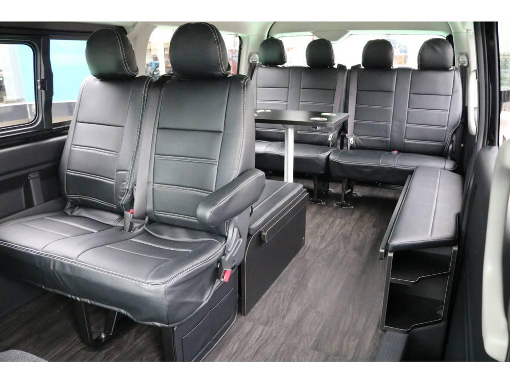 ベットキットを収納すれば動きやすい通路が出来上がります! | トヨタ ハイエース 2.7 GL ロング ミドルルーフ 4WD TSS付