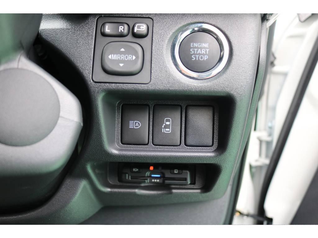 メーカーオプションのプッシュスタート&片側パワースライドドア&ETCを装備! | トヨタ ハイエース 2.7 GL ロング ミドルルーフ 4WD TSS付