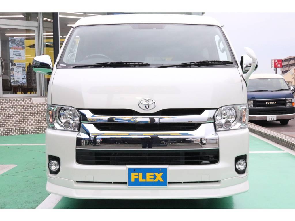 トヨタセーフティーセンス・LEDヘッドライト装備♪ | トヨタ ハイエース 2.7 GL ロング ミドルルーフ 4WD TSS付