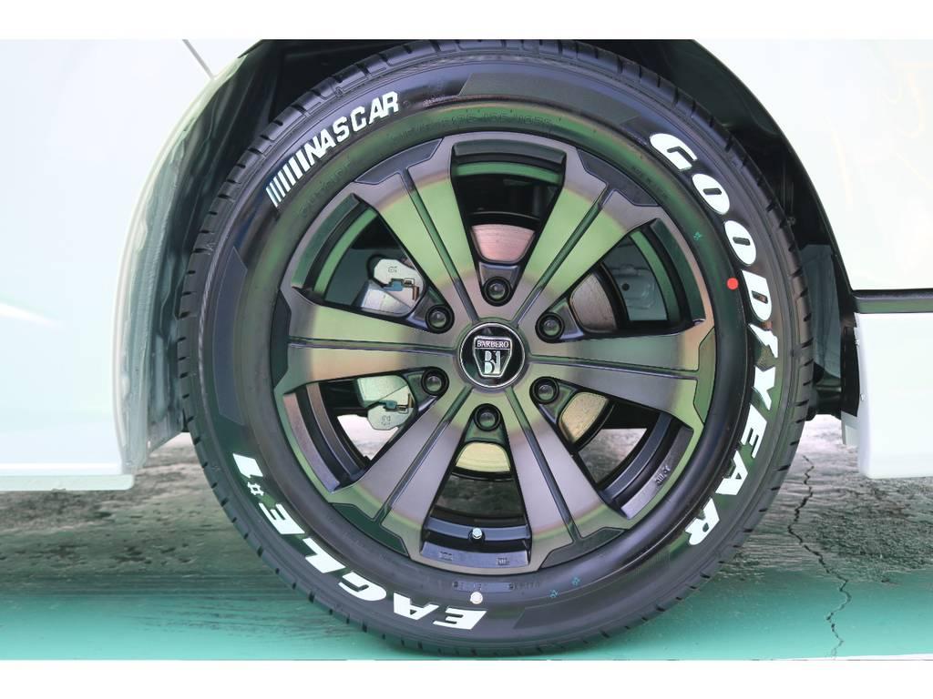 FLEXバルベロアーバングランデ17インチAW・グッドイヤーナスカータイヤ♪ | トヨタ ハイエース 2.7 GL ロング ミドルルーフ 4WD TSS付