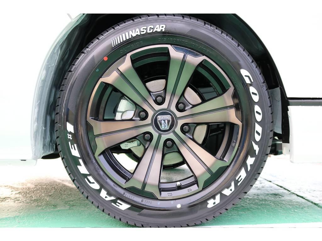 ホイール」はバルベログランデ17インチ・オリジナルカラーです!   トヨタ ハイエースバン 2.8 スーパーGL 50TH アニバーサリー リミテッド ロングボディ ディーゼルターボ 50TH