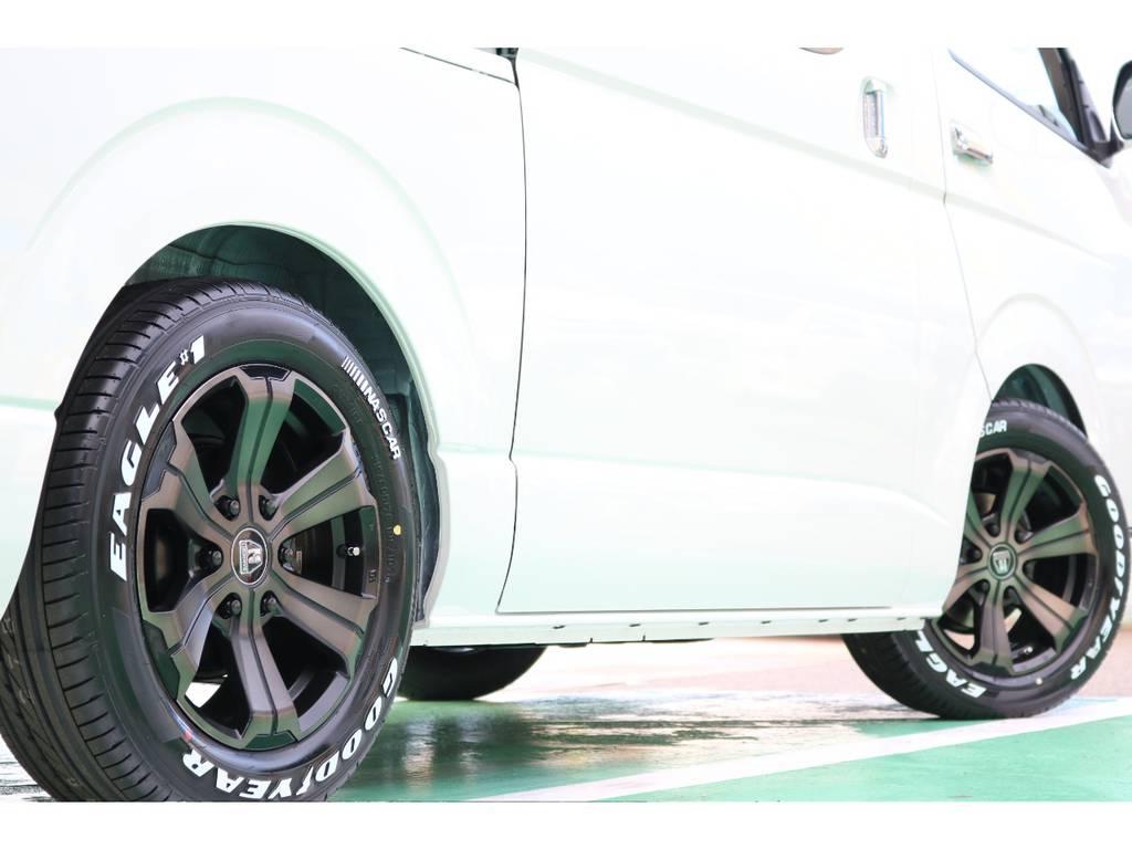 タイヤはグットイヤーナスカータイヤのセットです♪   トヨタ ハイエースバン 2.8 スーパーGL 50TH アニバーサリー リミテッド ロングボディ ディーゼルターボ 50TH