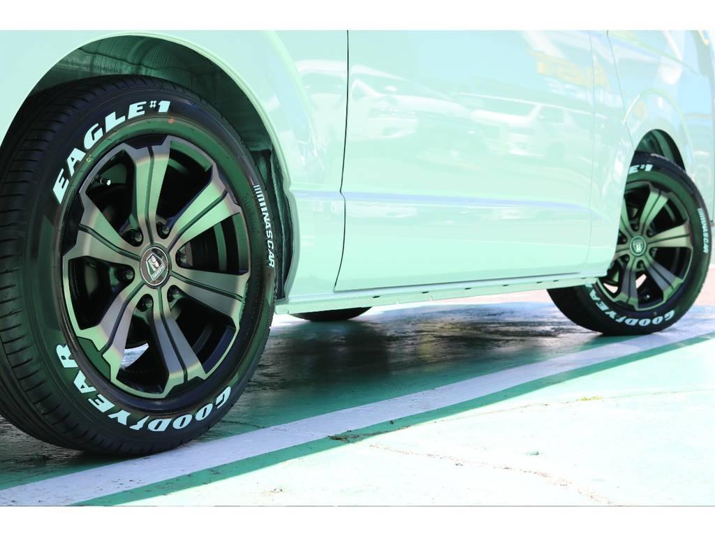 タイヤはグットイヤーナスカータイヤのセットになります♪ | トヨタ ハイエースバン 2.0 スーパーGL 50TH アニバーサリー リミテッド ロングボディ 50TH