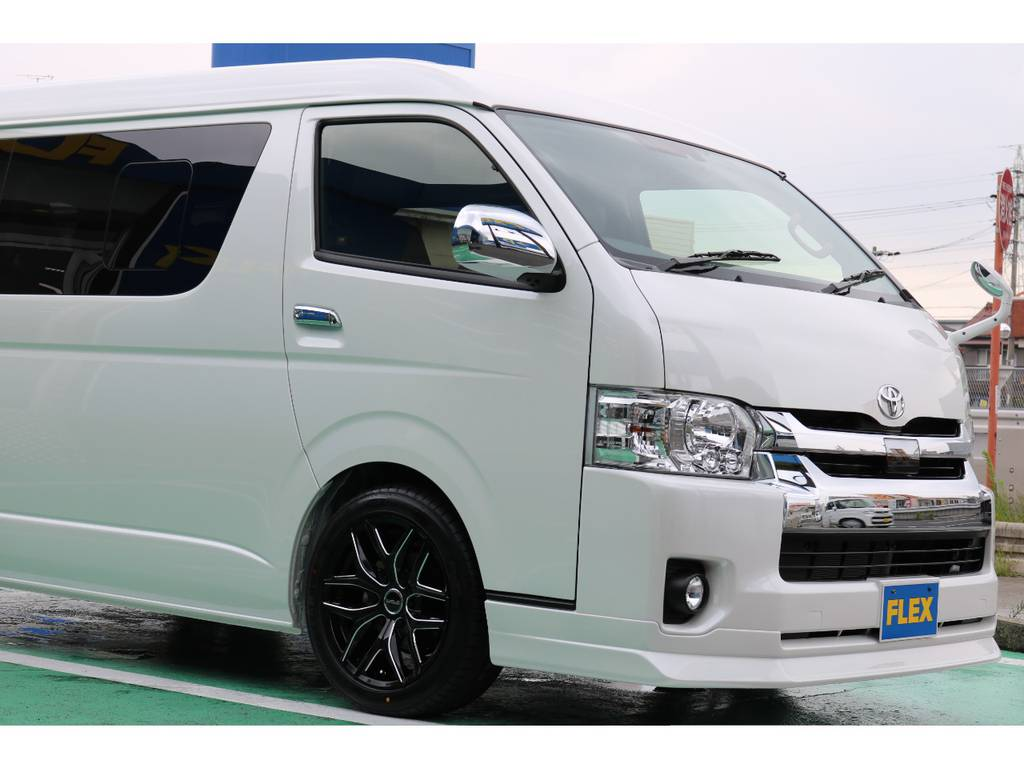 FLEX Delfinoフロントスポイラー♪ | トヨタ ハイエース 2.7 GL ロング ミドルルーフ TSS付