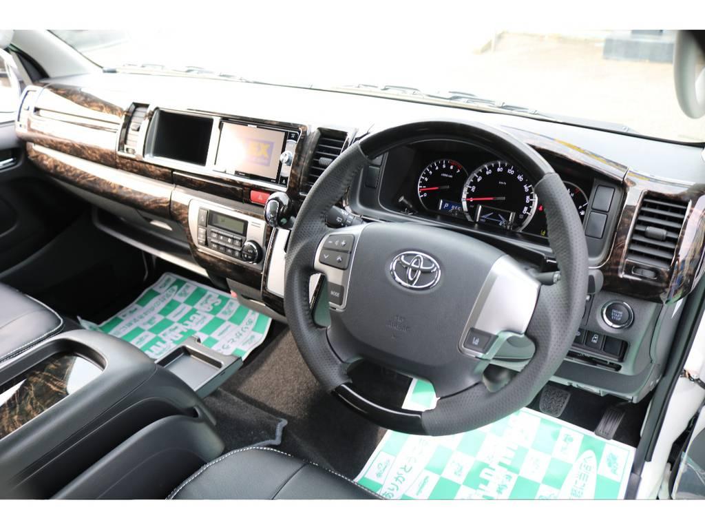 ステアリングスイッチ付き♪ | トヨタ ハイエース 2.7 GL ロング ミドルルーフ TSS付
