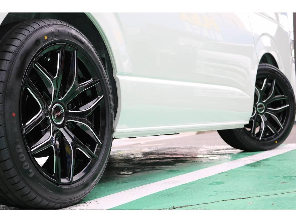 お好みのタイヤアルミに変更も承っております! | トヨタ ハイエース 2.7 GL ロング ミドルルーフ TSS付