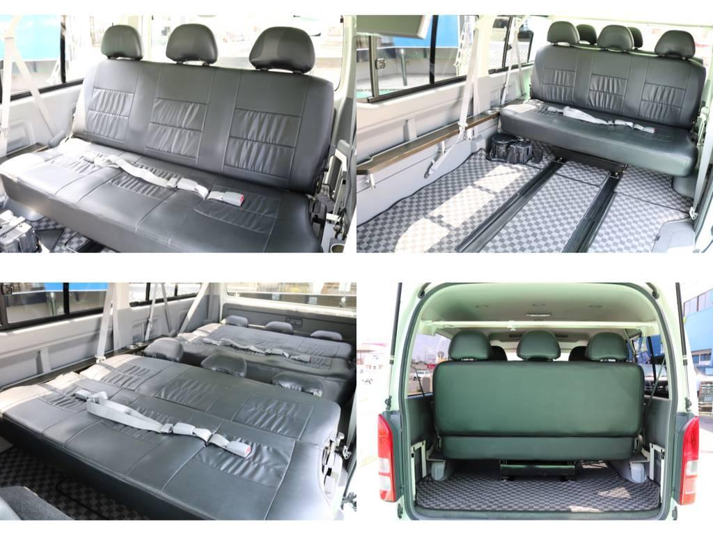 スライドレール付きワゴンキットシートです♪フルフラットも可能で車中泊も出来ちゃいます!!