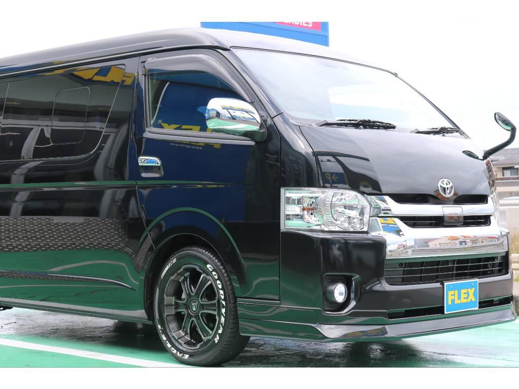 カスタム多数の中古車両が入庫いたしました!   トヨタ ハイエース 2.7 GL ロング ミドルルーフ 4WD FLEXカスタム下取り直販