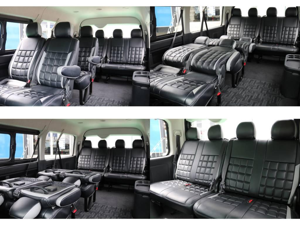 リクライニング加工済み♪   トヨタ ハイエース 2.7 GL ロング ミドルルーフ 4WD FLEXカスタム下取り直販
