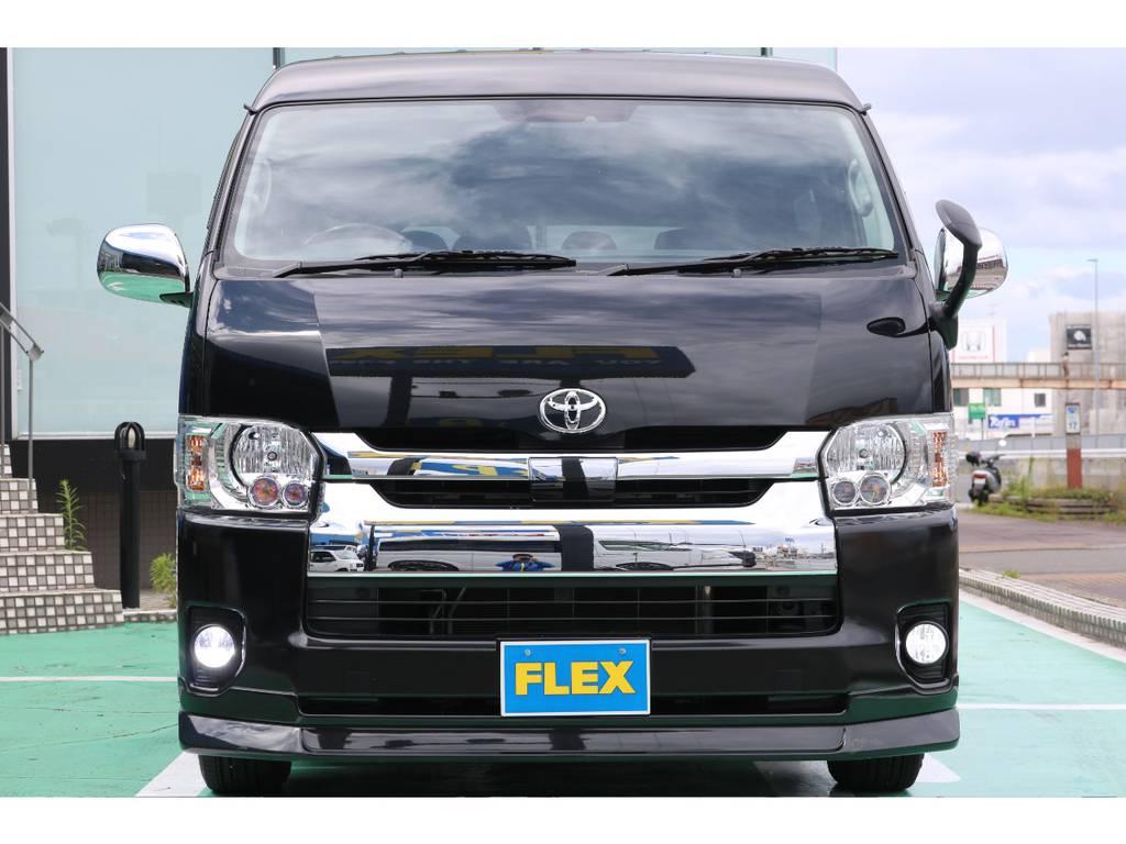 FLEXオリジナルパーツで多数カスタムされております♪   トヨタ ハイエース 2.7 GL ロング ミドルルーフ 4WD FLEXカスタム下取り直販