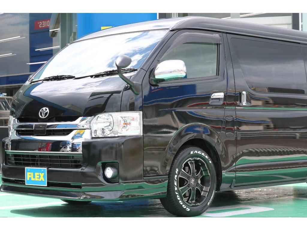 内装・外装共に状態は良好です♪   トヨタ ハイエース 2.7 GL ロング ミドルルーフ 4WD FLEXカスタム下取り直販