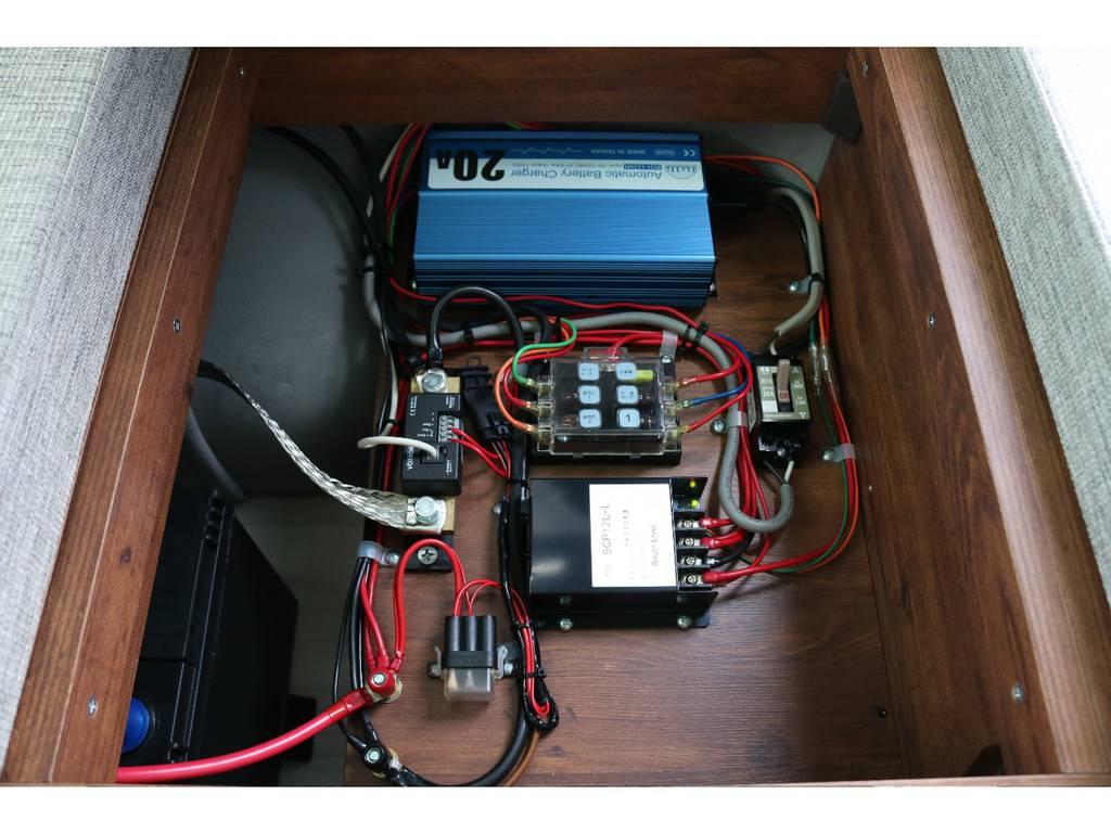 外部充電、走行充電にてサブバッテリーを充電可能!