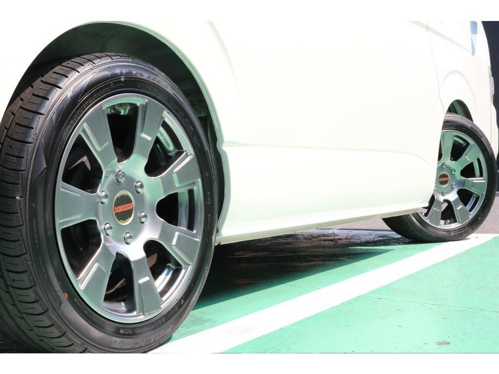 新品タイヤに交換も承ります! | トヨタ ハイエース 2.7 GL ロング ミドルルーフ 【買取直販】