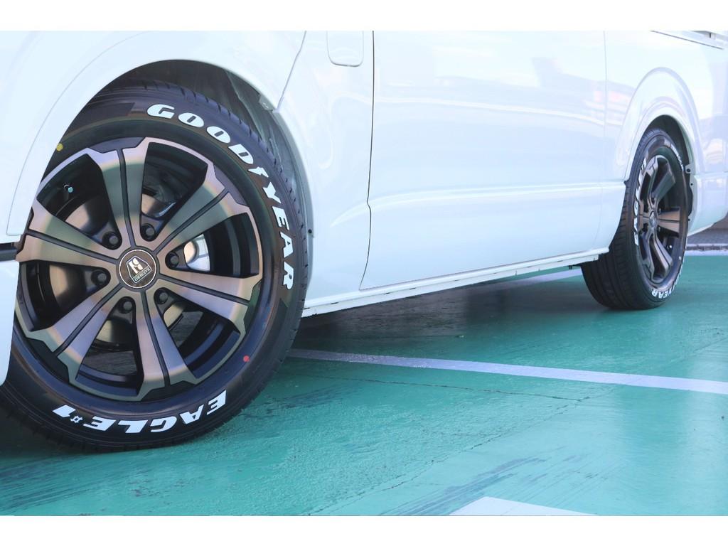 タイヤは大人気グットイヤーナスカータイヤのセットとなっております♪