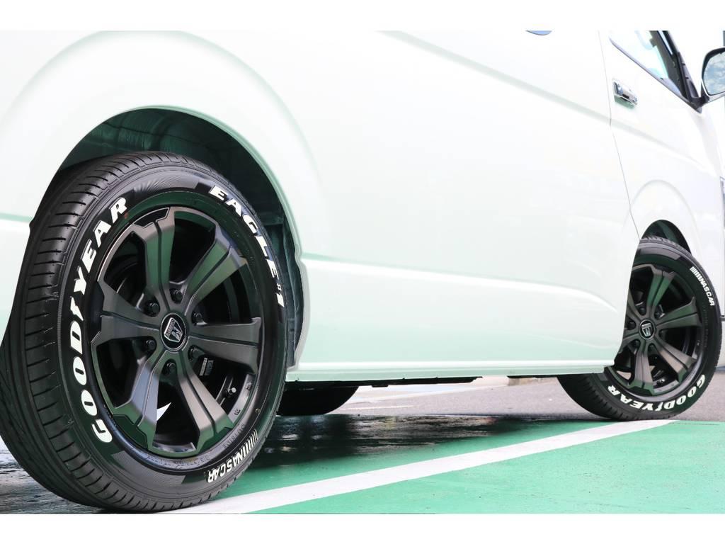 タイヤは大人気グットイヤーナスカータイヤのセットとなっております!