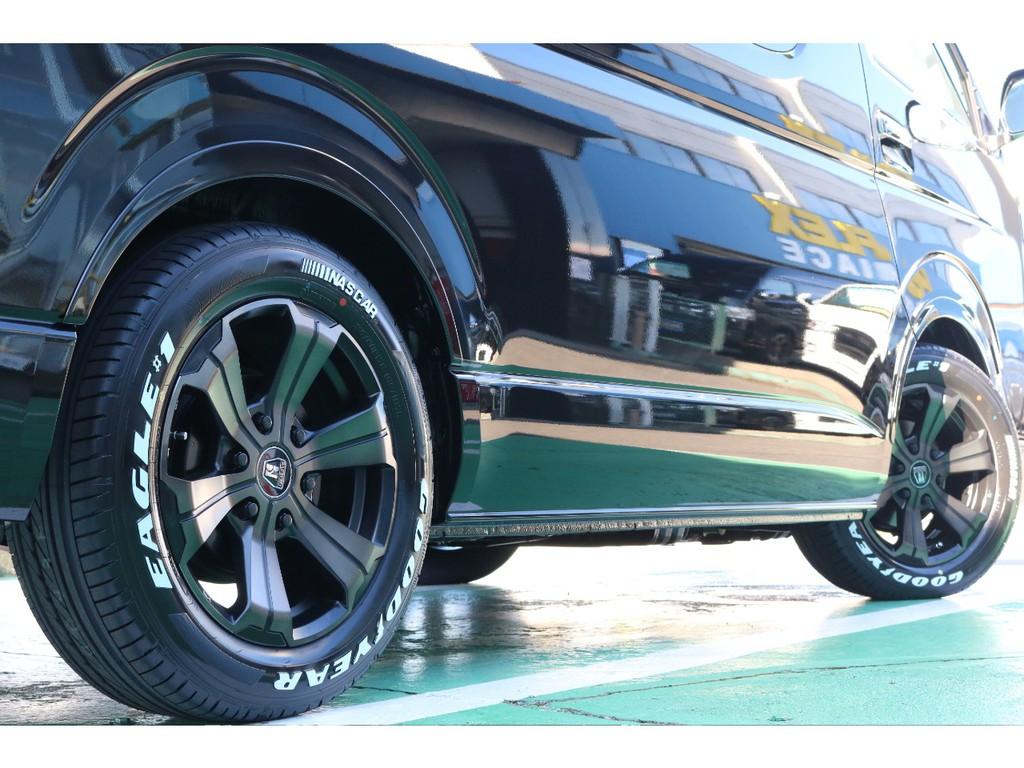 タイヤは大人気グットイヤーナスカータイヤセットとなっております!
