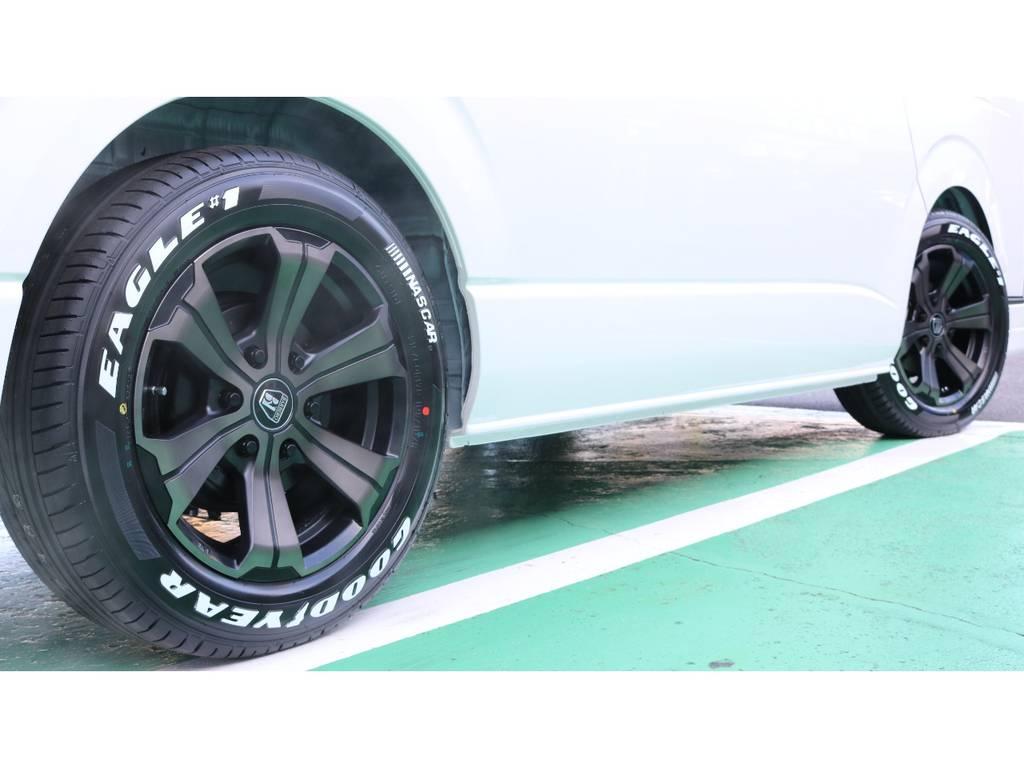 タイヤは大人気グットイヤーナスカータイヤセットとなっております♪