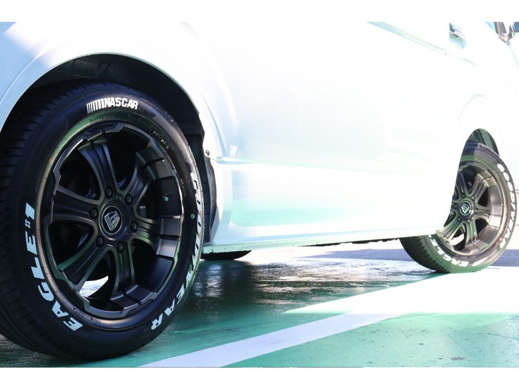 タイヤは大人気グットイヤーナスカータイヤセットとなります!
