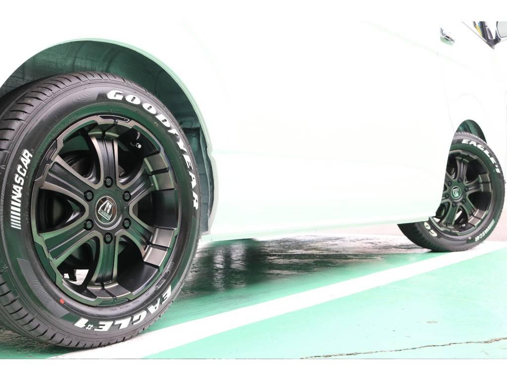 タイヤは大人気グットイヤーナスカーセットです♪