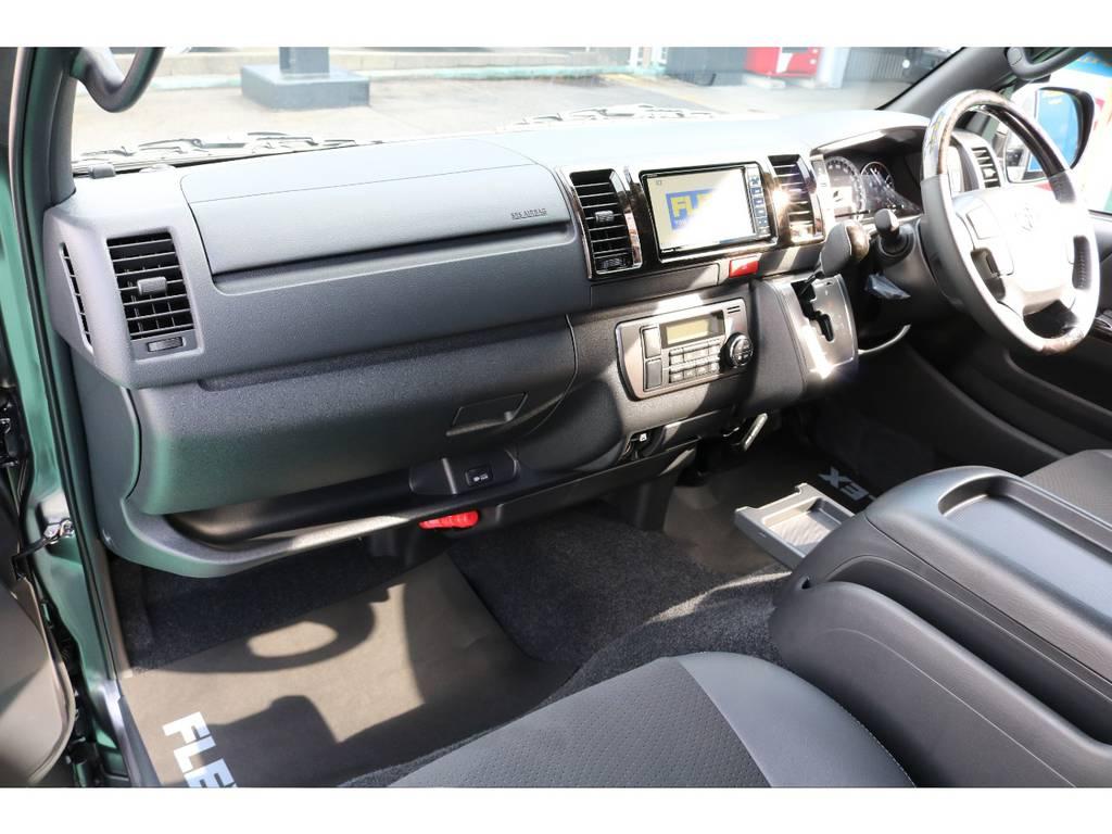 メーカーオプションの助手席エアバック・AC100Vコンセントが装着してあります!!安全装備・便利機能充実!!